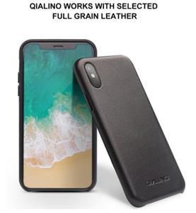 Image 2 - QIALINO אמיתי עור טלפון מקרה עבור iPhone XS בעבודת יד יוקרה אופנה אולטרה דק בחזרה שרוול כיסוי עבור iPhoneXS עבור 5.8 אינץ