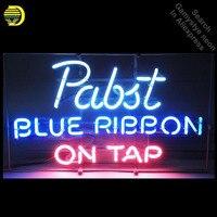Oferta Señales de neón para Pabst cinta azul bombillas de neón artesanales señal de tubo de vidrio