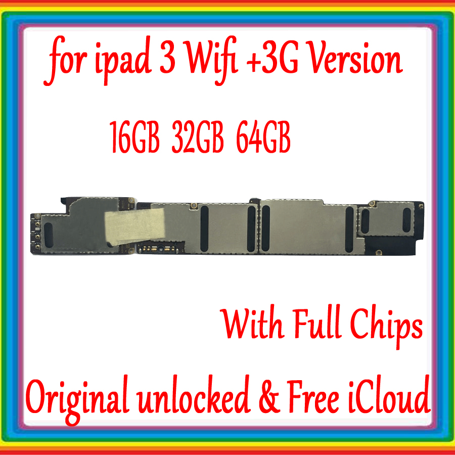 Wifi Version / Wifi-3G Version Mainboard for ipad 3 Motherboard Full Chips,Original unlocked for ipad 3 Logic board,No iCloudWifi Version / Wifi-3G Version Mainboard for ipad 3 Motherboard Full Chips,Original unlocked for ipad 3 Logic board,No iCloud