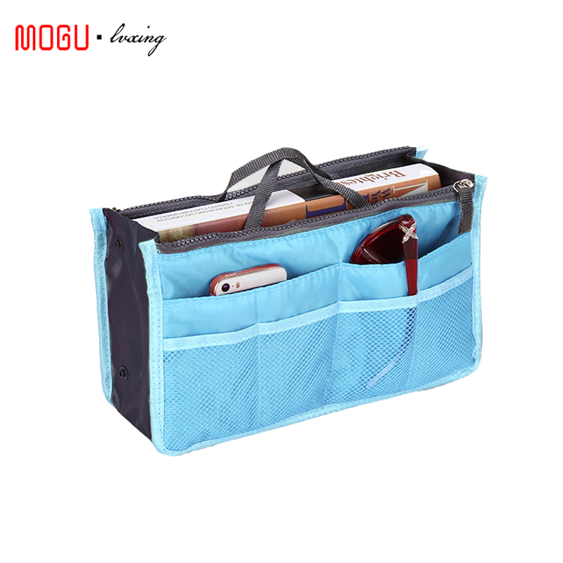 High quality Multifunction Organizer Travel Accessories Bags Insert Women Nylon Large liner Lady Makeup Cosmetic Bag 1