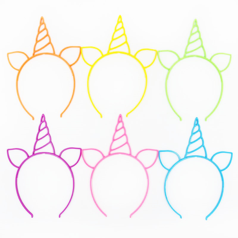 Image 3 - 6pcs Unicorn Party Decoration Unicorn Headband Birthday Party Decorations Kids Baby Shower Kids Favors Festive Party Supplies-in Party DIY Decorations from Home & Garden
