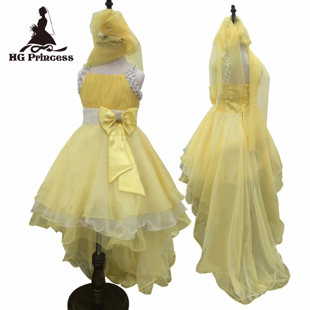 Free Shipping Hot Sales Girl Princess 2018 New Arrival Yellow Dresses For Girls  10 12 Years Kids Dress Party Kids Evening Gowns hot sales new original high voltage dt60 300p 300pk 15kv 15kva free shipping