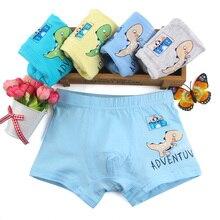 4 Pcs/lot Cartoon dinosaur Kids Boy Underwear For Baby Children's Boxer Underpants Briefs Boys Underware Pants For 1-8 Y QS7002