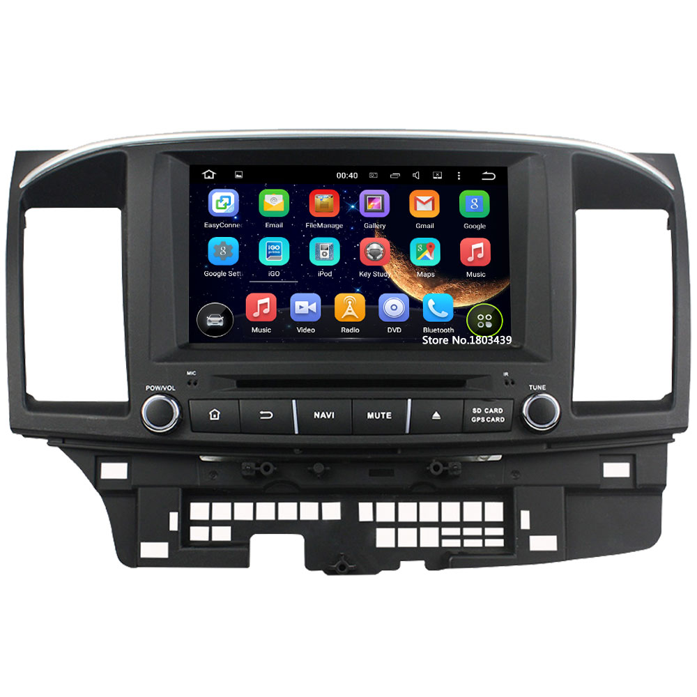 Quad Core 8″ 1024*600 2Din Android 5.1.1 Car DVD Video Player Radio FM DAB+ 3G/4G WIFI GPS Map For Mitsubishi Lancer 2014 2015