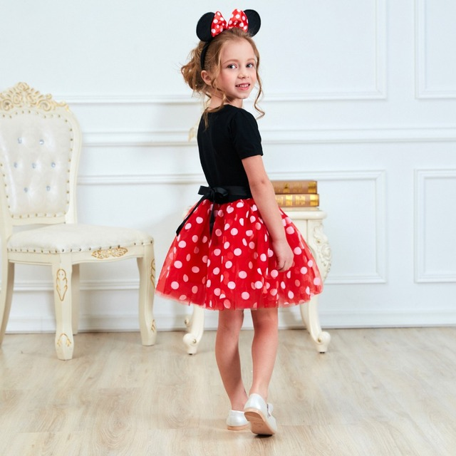 1 Year Minnie Mouse Birthday Party Dress For Kids 2 – 6T