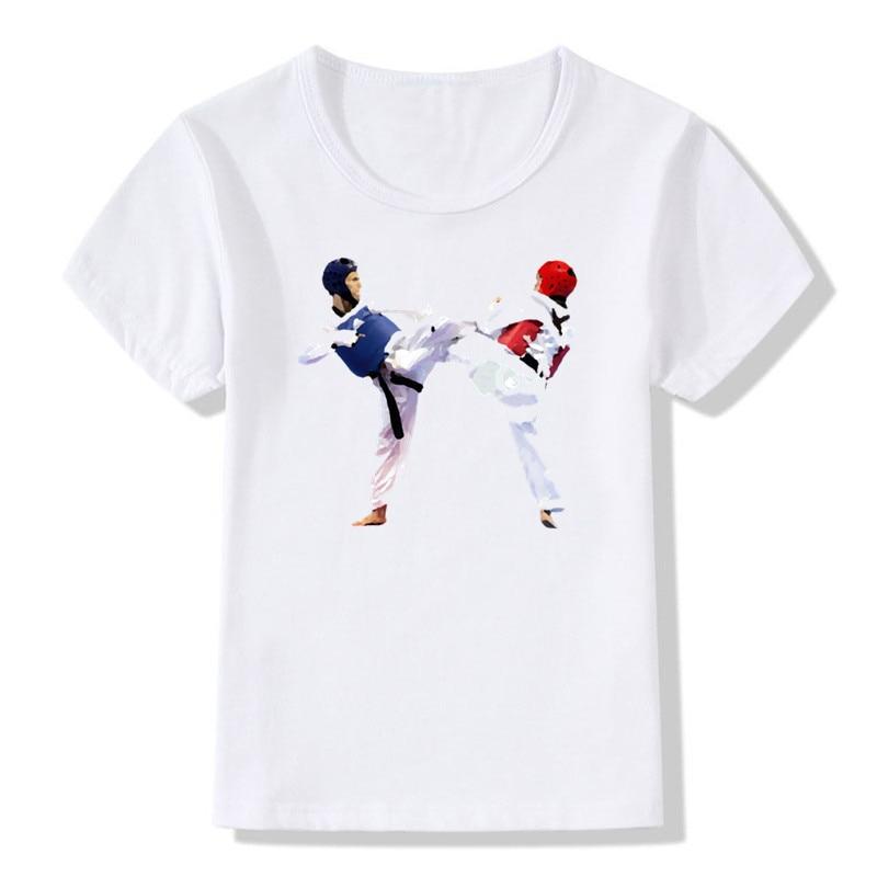 2018 Children Fashion Print Taekwondo T-shirt O-Neck Short Sleeve Summer Boy&Girl Korea Cool Casual Top Tee Baby T Shirt Ooo631