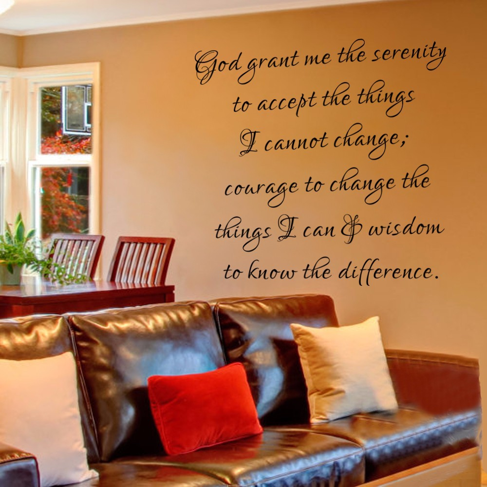 God Grant Me The Serenity Wall Decal Courage Wisdom Vinyl Wall Quote Decals  Christian Wall Lettering 147cm X147cm In Wall Stickers From Home U0026 Garden  On ...