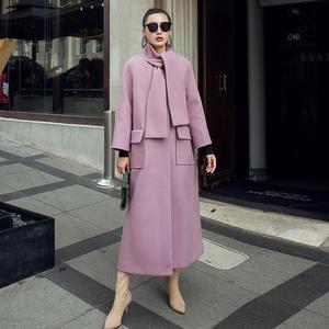 7ce5daf98428 top 10 largest women coat full sleeve winter woolen purple coat brands