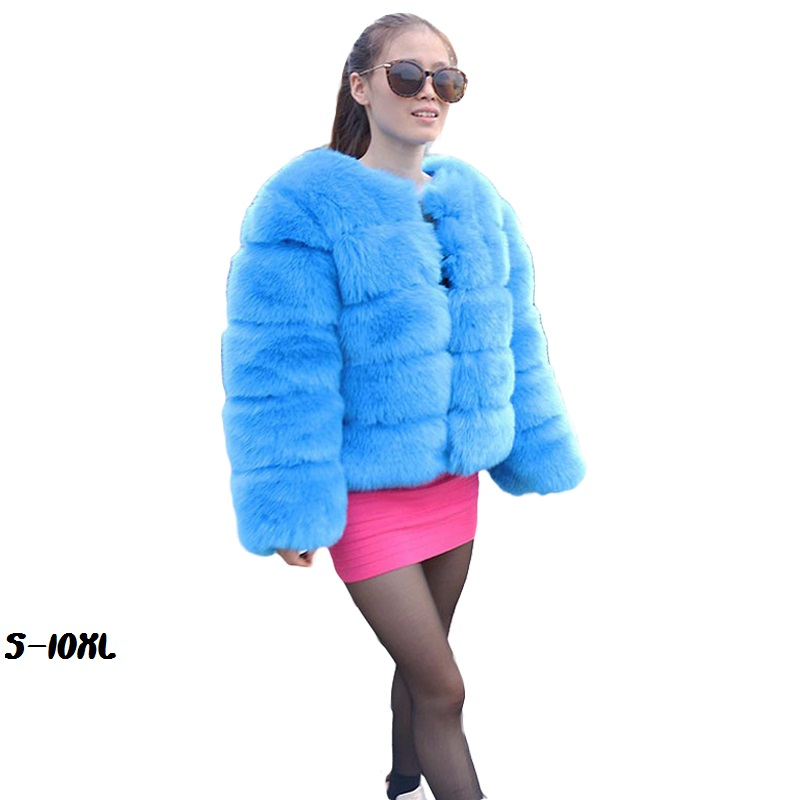 New Artificial fur jackets 2018 Fashion Fur coat ladies half flange Luxurious High Quality Women Fur Coat Winter Size Coat