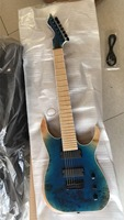 Wholesale Cnbald guitar New 7 String electric guitar solid Ash body maple top in blue burst 181026