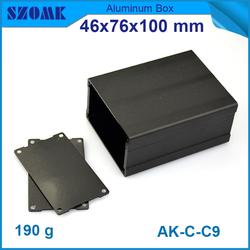 1 piece wholesale aluminum electronics cabinet in Black color fit PCB size is 42.9x70.7mm used for GPS  box or Camera enclosures