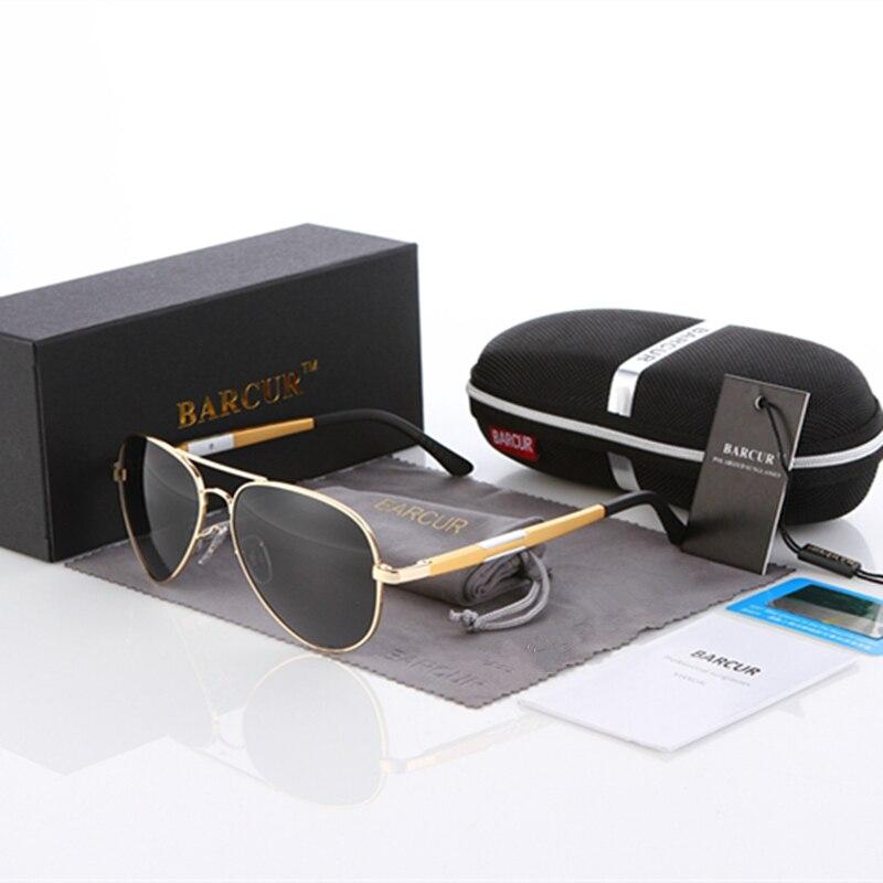 BARCUR Aluminio Magnesio Gafas de sol polarizadas Hombres Espejo de - Accesorios para la ropa - foto 3