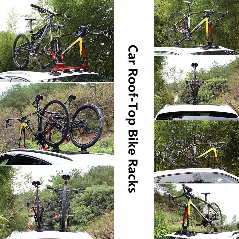 Road Bicycle MTB Mountain Bike Sustion Cup Car Roof Rack Cycle SUV Sucker Talon Bicycle Rack Roof-Top Bike Rack Bike Accessory partol black car roof rack cross bars roof luggage carrier cargo boxes bike rack 45kg 100lbs for honda pilot 2013 2014 2015