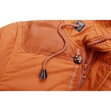 Easmen warme fellkragen kapuze parka winter dicke ente unten outwear daunenjacke orange m