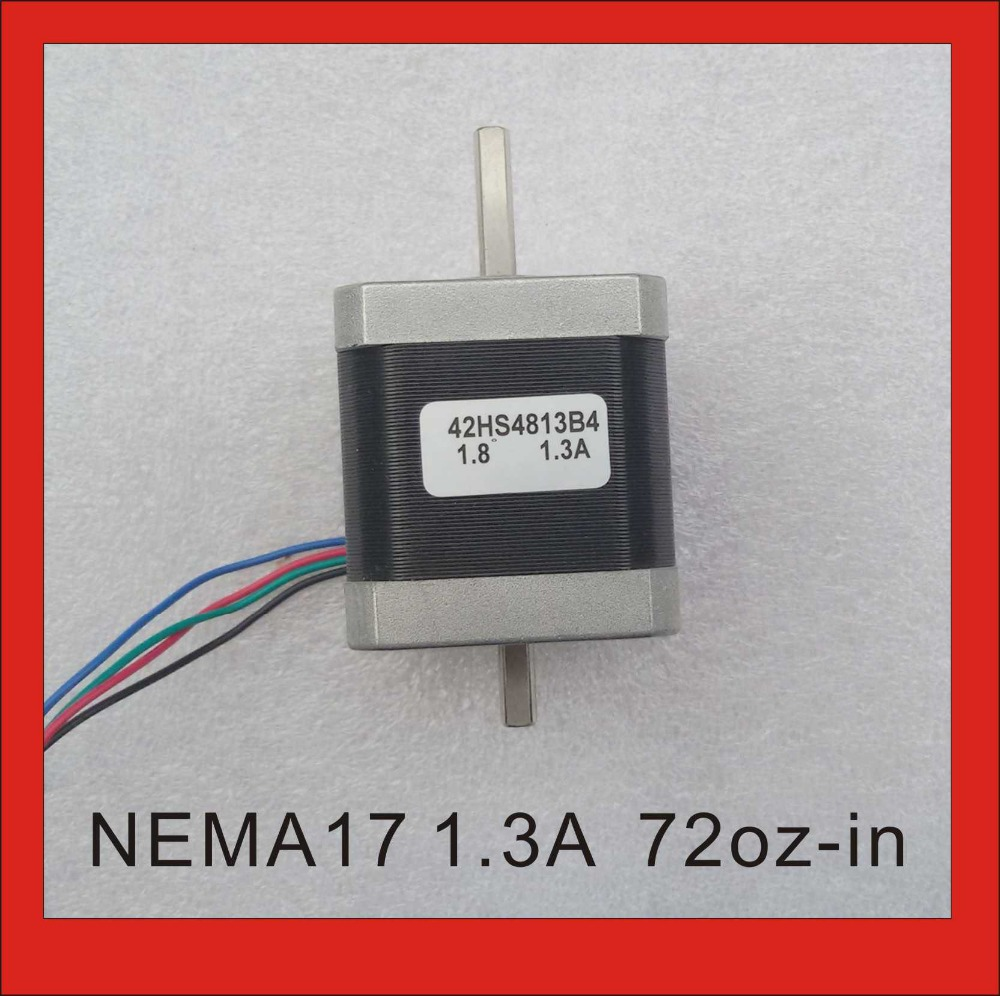 Dual Shaft NEMA 17 Stepper Motor 52N.cm (72 oz-in) Body Length 48mm CE Rohs CNC 3D Printer Motor dual shaft nema 17 stepper motor 52n cm 72 oz in body length 48mm ce rohs cnc 3d printer motor