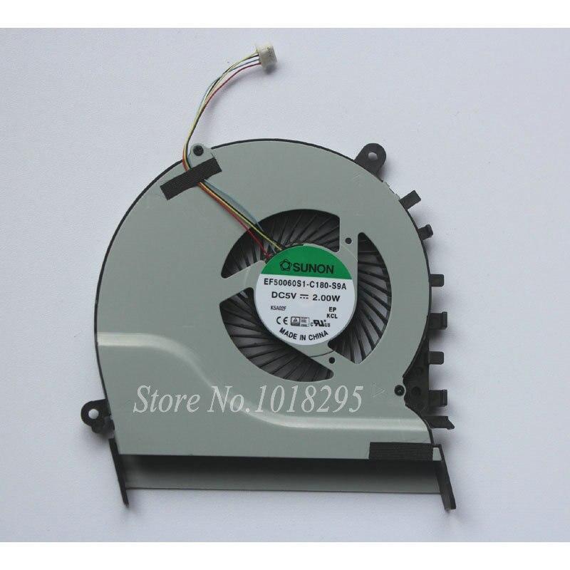 New Laptop CPU Cooler Fan for ASUS S551LB V551LB S551 V551 EF50060S1-C180-S9A laptop cpu cooling fan for asus x455ld x455cc a455 a455l k455 x555 sunon mf60070v1 c370 s9a