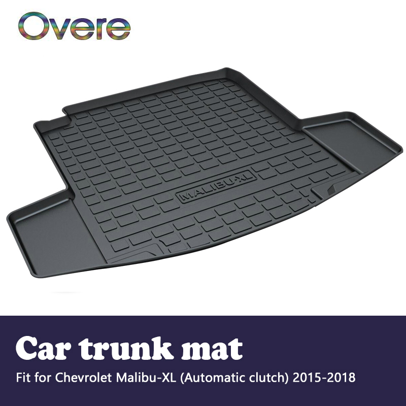 Overe 1Set Car Cargo rear trunk mat For Chevrolet Malibu XL (Automatic clutch) 2015 2016 2017 2018 Styling Boot Tray Accessories