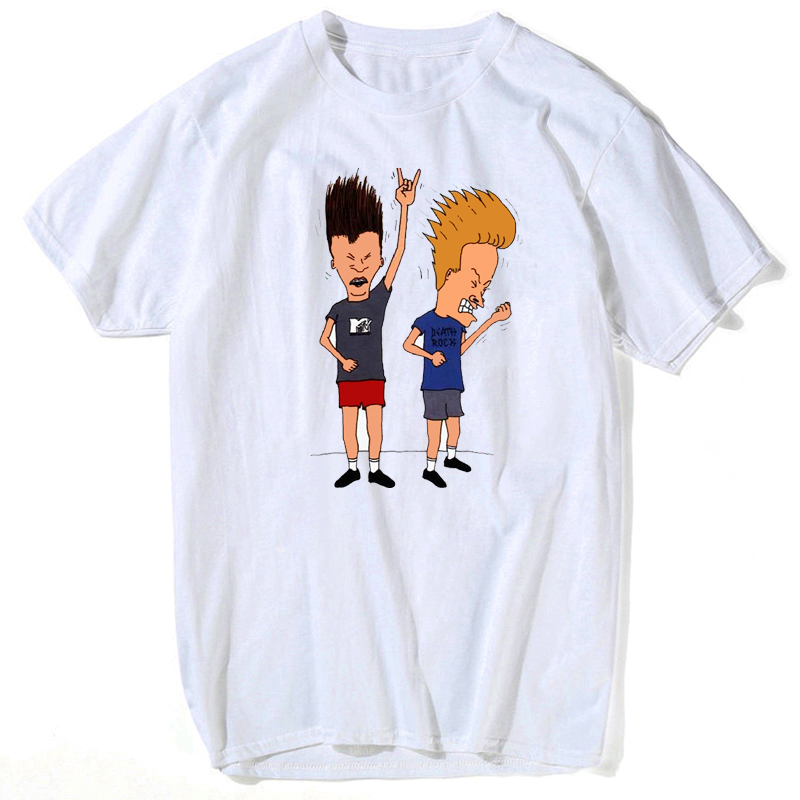 Beavis & Butthead T Shirt For Man Rock Forever Officially Licensed Adult Shirt S-3XL Tee Shirt Plus Size  Streetwear