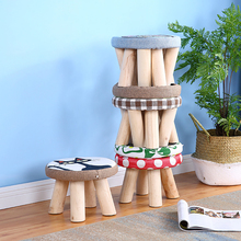 Cute Small Children Chair Wood Stools Kids Shoes Sofa with Creative Simple Plush Cartoon Round Shoe Chair  Kindergarten Chair u best sex shoe high heel sofa chair indoor fiberglass shoe shape chair for leisure