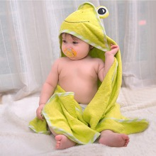 New Children Cute Cartoon Hooded Baby Bath Towel Animal Soft Bamboo Fiber Baby Boys Girls Kids Swimming Beach Towel 85*85cm все цены