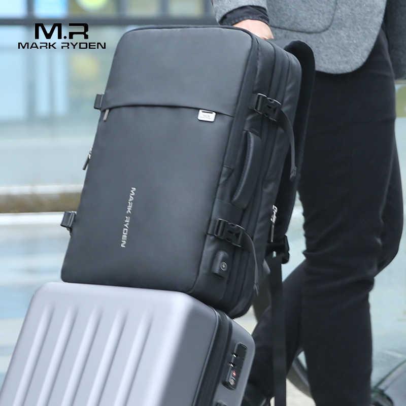 Мужской рюкзак-антивор Mark Ryden, дорожная сумка, подходит для ноутбука на 17 дюймов, с USB-зарядкой, много отделений, 2019