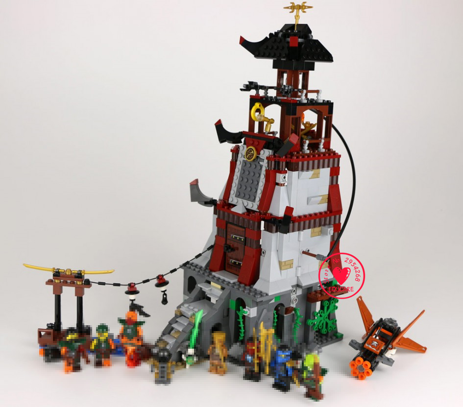 Lepin bela 10528 815Pcs Phantom Ninja series Pirate siege Lighthouse Model Building Blocks Set  Bricks Toys For Children Gift lepin 22001 pirate ship imperial warships model building block briks toys gift 1717pcs compatible legoed 10210