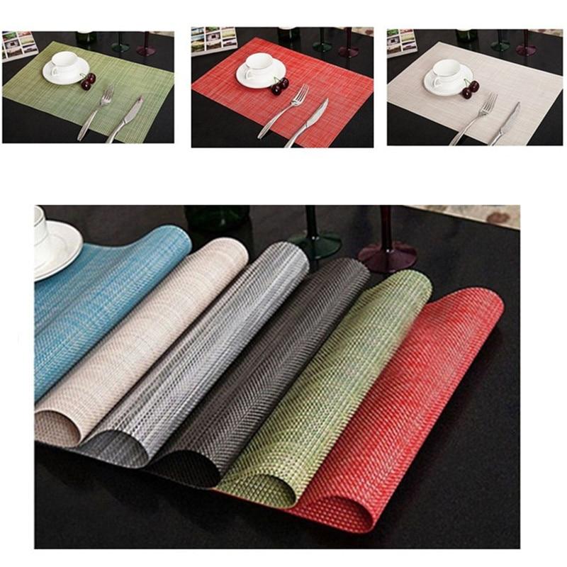 2/6Pcs PVC waterproof Dining Table Placemats Kitchen Tool Place Mat Coasters Mat Europe manteles individuales posavasos Sales