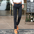 Hot Sale 2016 Four Season Trouser Men Fashion Casual Pant for Men Full Length Black Pant Skinny Cottton Pencil Pant