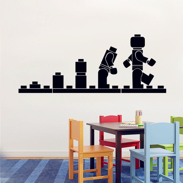 Lego Evolution Wall Decal Vinyl Sticker   Lego Games Fun Wallpaper   Kidu0027s Playroom  Wall Art
