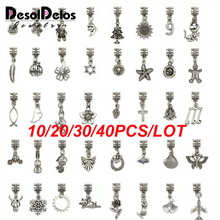2019 New Plated Tibetan Silver Mixed charms Pendants fit bracelet DIY Jewelry making 10PCS/20PCS/30PCS/40PCS Random Mix