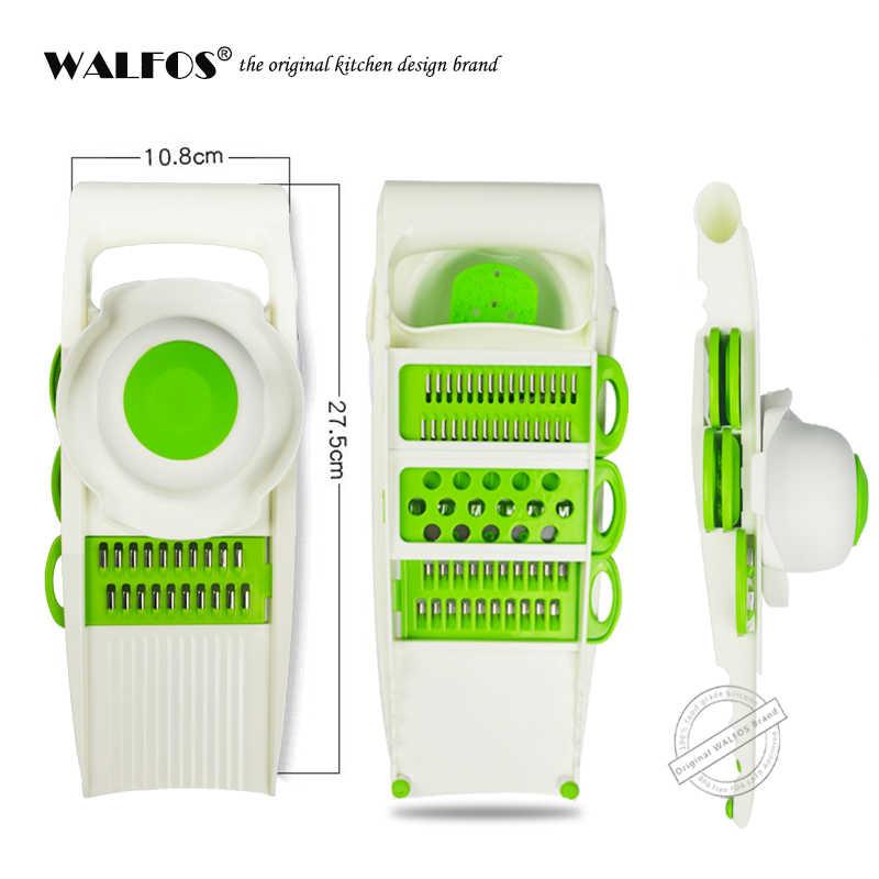 WALFOS овощерезка Овощечистка Терка измельчитель для овощей инструменты с 5 лезвий для морков лук, овощ слайсер Кухня аксессуары