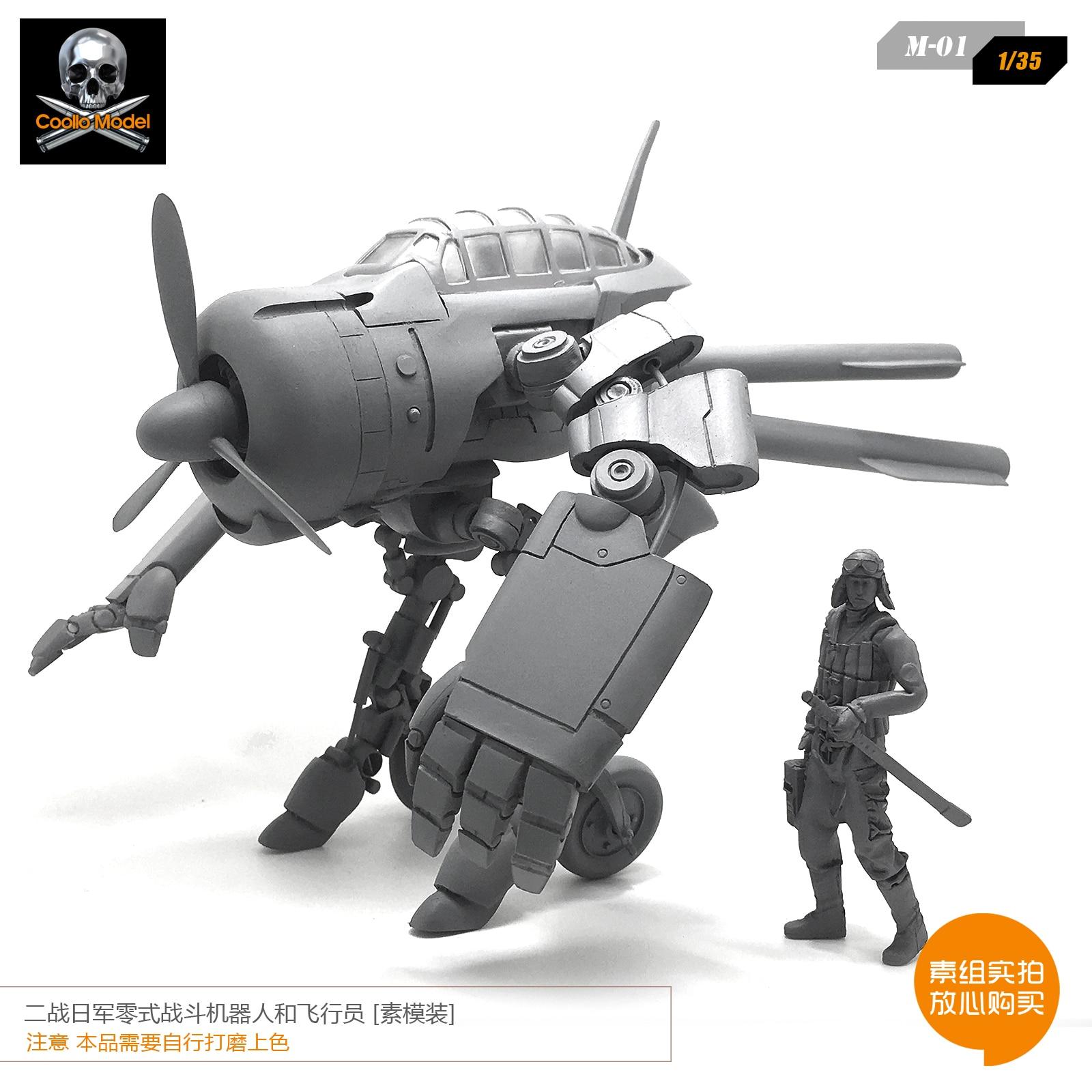 1/35 Guerra Mondiale II Zero Combattimento Robot Modello di Aeromobili e Pilota Della Resina Modello M 01 Smontato-in Kit di modellismo da Giocattoli e hobby su  Gruppo 1