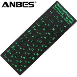 ANBES русская крышка клавиатуры наклейки для Mac Book портативных ПК Клавиатура компьютер Стандартный письмо макет Чехлы для клавиатуры плёнки
