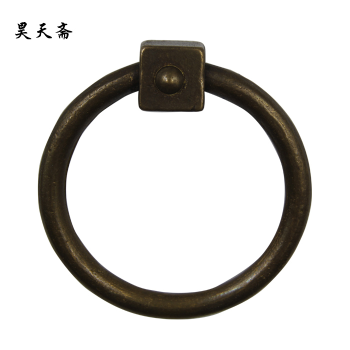 [Haotian vegetarian] classical Chinese antique door knocker door handle copper cymbals copper clasp handle HTA-128 [haotian vegetarian] door knocker chinese decoration antique copper handle antique handle hta 096 chassis