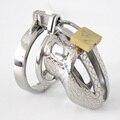 Pequeno Dispositivo de Castidade de Metal Chastity Gaiola Caralho Gaiola de Aço Inoxidável Cinto de Castidade Masculino Anéis Penianos Brinquedos Produtos Do Sexo Escravidão