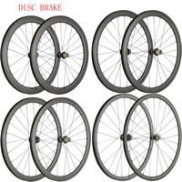 Disc Brake Wheels Cyclocross Wheelset 30mm 40mm 45mm 55mm Carbon Clincher Tubular Carbon Bicycle Disc Wheelset U Shape