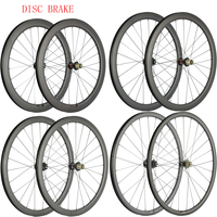 Disc Brake Wheels Cyclocross Wheelset 30mm 40mm 45mm 55mm Carbon Clincher Tubular Carbon Bicycle Disc Wheelset U Shape