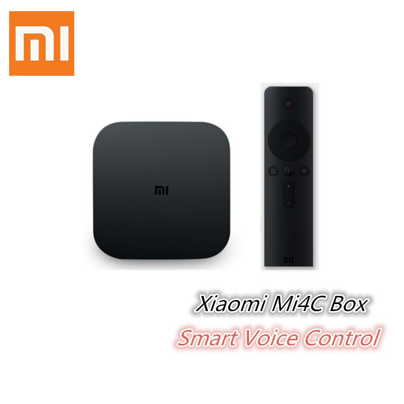 Xiaomi Mi4C Android TV Box 1GB 8GB Android 5.0 Amlogic S905L Quad Core 2.4G Wi-Fi Bluetooth Set-Top Box 4K HD Smart Media Player original xiaomi mi4c patchwall tv box 1gb 8gb amlogic s905l 2 4g wi fi bluetooth set top box supports 4k hd smart media player