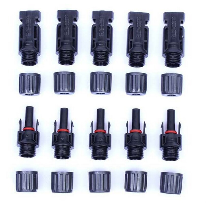 200 pairs/a lot Current 30A 1000V DC MC4 Connector male and female, MC4 Solar Panel   Connector Free shipping
