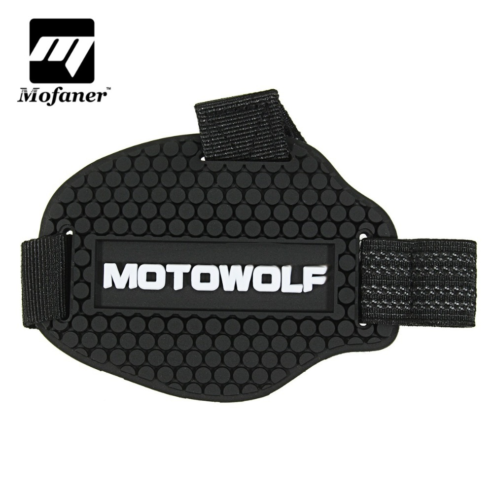 Black Plastic Motorcycle Motorbike Shift Cover Shifter Sock Shoes Boot Protector