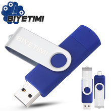 Флеш-накопитель USB для ПК/smart phon pendrive 64 ГБ 32 ГБ 16 ГБ OTG usb-накопитель для внешнего хранения данных Memory Stick Flash Drive BIYETIMI