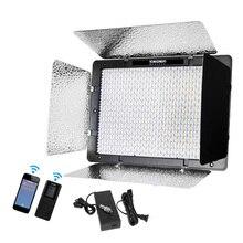 Yongnuo YN1200 + adaptador de corriente 5500K blanco 9300LM CRI95 1200 SMD Led Video Luz de relleno iluminación de estudio fotográfico con control remoto