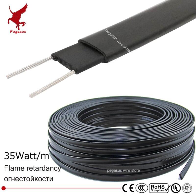 10 M 220 V Typ Heizung Band Dach Enteisung Heizung Kabel Wasser Rohr Schutz Selbst Regulierung