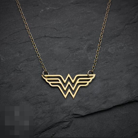 Золото Wonder Woman Цепочки и ожерелья, Диана Prince Шарм, чудо-женщина ювелирные изделия, супер герой ювелирные изделия