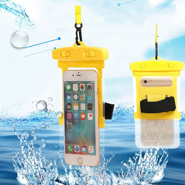 new style 4c14a f7cb1 US $1.75 39% OFF|Swimming Bags Waterproof Bag Mobile Phone Pouch cover for  6.0 Inch Dry Bag Underwater Touch Screen Dry Case Cover Swimming Bags-in ...