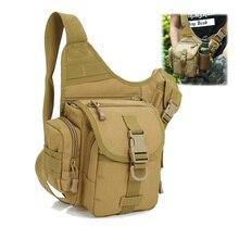 waterproof sling fishing bag outdoor tactical bags military molle camping hiking shoulder bag sport travel backpack Men XA6G