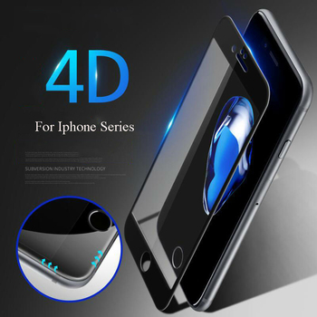 Romiky 4D Curved Edge Tough Temperd Glass For iPhone 6 7 Full Glass Cover Screen Protector for iPhone 7 6s Explosion Proof Glass