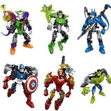 Splicing Avengers Hero Captain America Batman Puzzle Children Building Action Game Model Brick Kids Toys