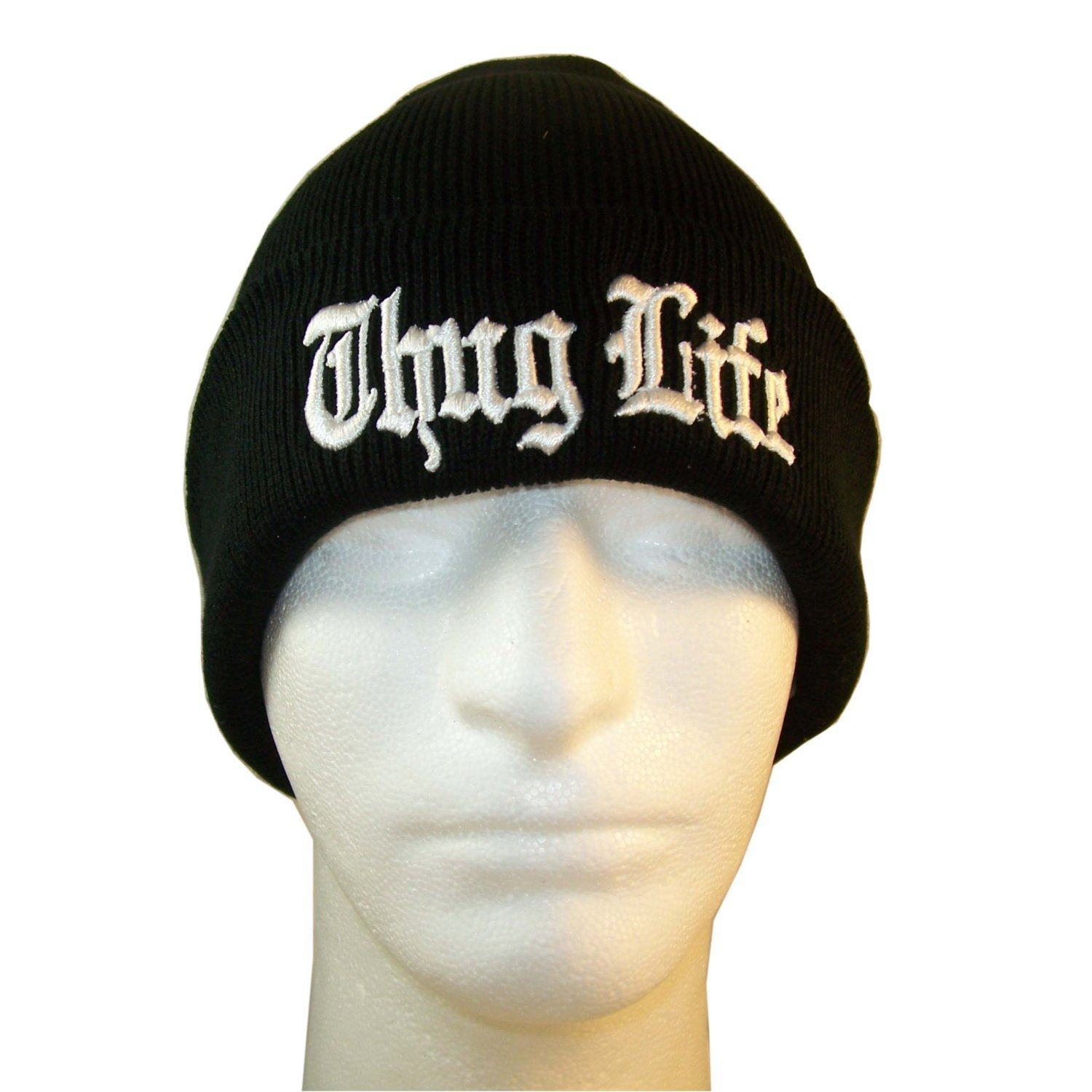 Europe and The United States Men and Women s Hip-Hop Thug Life Embroidery  Knitted Wool acb64b9bf8e8