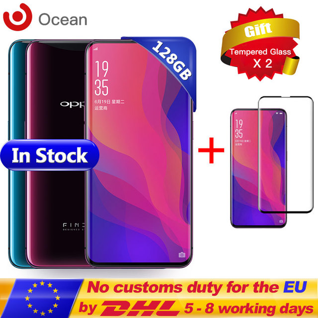 New OPPO Find X FindX RAM 8GB ROM 128GB Mobile Phone Snapdragon 845 Octa Core 6.42'' Full Screen Stealth 3D Face Recognition